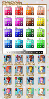 acnl hair color guide my name is claudia and you can find qr codes for animal crossing