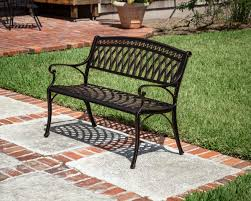 cast aluminum patio bench aluminum patio bench