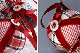 another easy no sew fabric ornament made from an