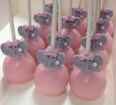 instead of pink elephant baby shower cake pops purple baby
