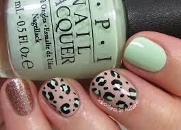 40 great nail art ideas mint green leopard print nail art
