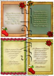 christmas verses on parchment card inserts digital download