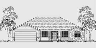 Single Story Ranch Homes Ranch House Plans American House Design Ranch Style Home Plans