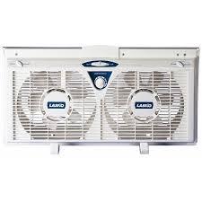 twin window fan lowes shop lasko 8 in 2 speed window fan at lowes com