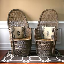 Wicker High Back Dining Chair Gorgeous High Back Wicker Chair With Safavieh Rural Woven Dining