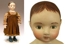 cloth doll patterns and face pressmolds by deanna hogan of blue
