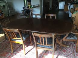 solid mahogany period extendable dining table in bradford on