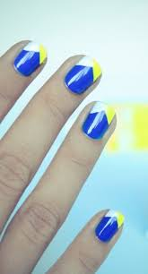 blue and gold nail art tutorial instaglam