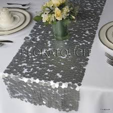grey table runner wedding dazzle square silver sequin table runner wedding table runner