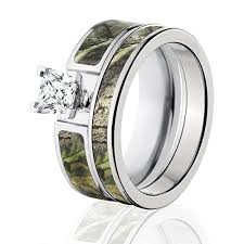 camo wedding bands realtree camo bridal set camo wedding rings ap green camo rings