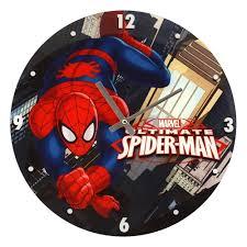 marvel comics ultimate spiderman swing glass wall clock wall