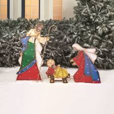 Lighted Outdoor Christmas Nativity Scene by Tiffanyd Christmas Home Tour 2013 Christmas Decorations 2017