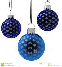 isolated hanging blue ornaments stock illustration