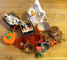 Lighted Ceramic Halloween Decorations by