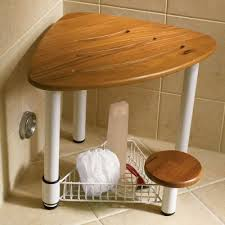 Teak Shower Bench Corner Corner Shower Bench Installing Corner Seat Tile Shower Recessed