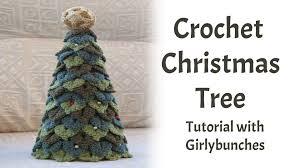 crochet crocodile stitch christmas tree tutorial girlybunches
