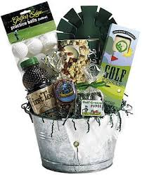 local gift baskets golf gift basket add some putter covers visor or cap from local