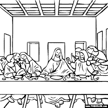 Online Coloring Pages Starting With The Letter L Page 3 Last Supper Coloring Page