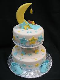 moon stars and sleeping baby shower cake cakecentral com