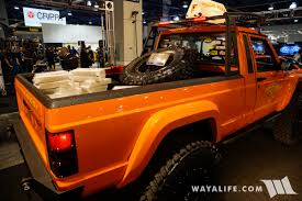comanche jeep 2014 2017 sema jcr offroad orange jeep comanche
