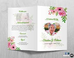 golden funeral program template printable funeral program