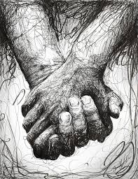 holding hands digital art by michael volpicelli