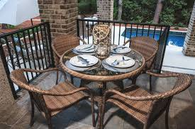 Steel Patio Table Why Wicker Is Better Than Steel Patio Furniture Palm Casual