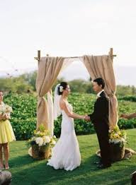 Wedding Arches Decorated With Burlap Rustic Wedding Arch With Burlap Rustic Wedding Bridesmaids