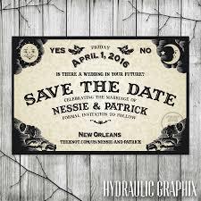 ouija board save the date for wedding halloween wedding