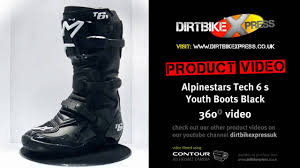 youth motorcycle boots alpinestars tech 6 s black boots youtube