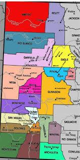 Western Colorado Map by Colorado Events Colorado West Outdoors