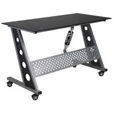 Office Desk Black Pitstop Compact Desk Black