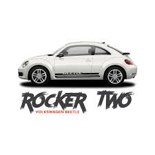 volkswagen beetle white 2016 volkswagen beetle rocker two lower door rocker panel body striping