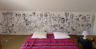 dessin mural chambre dessin mural chambre bien deco chambre peinture murale fresque