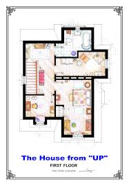 amazing art floorplans of tv shows and movies from up to simpsons