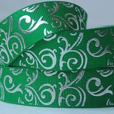 custom grosgrain ribbon new print wholesale ribbon silver swirls grosgrain ribbon