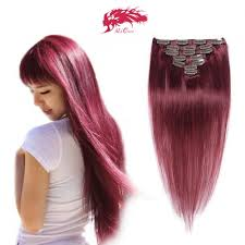 remy clip in hair extensions hair products color 99j clip 7pcs per set wefts remy clip in
