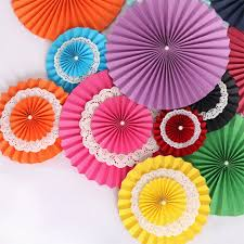 hanging paper fans 1pc 4 sizes avail colorful wheel tissue paper fans hanging paper