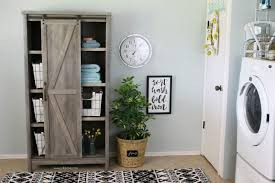 Decorating Ideas For Laundry Rooms Affordable Farmhouse Laundry Room Makeover Before And After