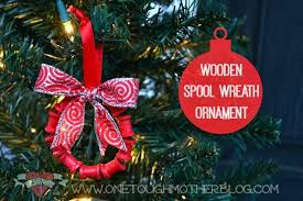 wooden spool wreath ornament 25 days to an organized