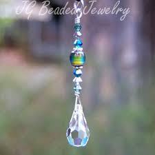 suncatcher rearview mirror car charm decoration with mood