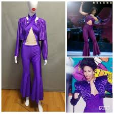 selena quintanilla purple jumpsuit costume made to order selena quintanilla inspired purple jumpsuit with