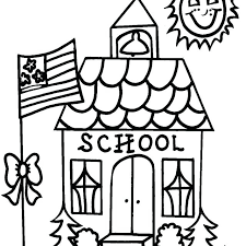 Coloring Page Of A School School Supplies Back To Coloring Page Vonsurroquen Me by Coloring Page Of A School