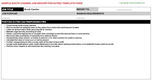 description of job duties for cashier booth cashier job description job title duties