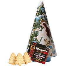 walkers christmas tree shortbread and angel tin bbc shop