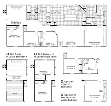 bedroom plan mobile home plans the homerun hrt472a6 floor 5