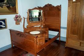 Oak Bed Set Three Solid Oak Bedroom Set For Sale Antiques