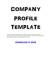 company profile templates word excel samples