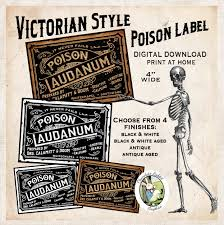 halloween apothecary jar labels victorian poison laudanum halloween apothecary bottle label