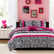 Black And White And Pink Bedroom Amazon Com Mi Zone Reagan Comforter Set Pink Full Queen Home